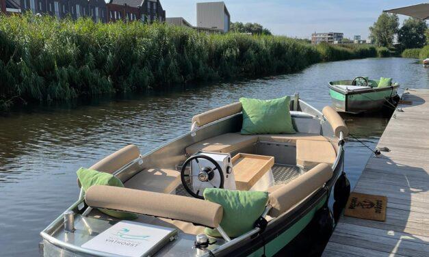 Met de boot van Vathorst naar het Eemmeer nu mogelijk door nieuwe technologie.