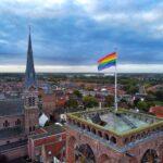 De regenboogvlag wappert ook in Culemborg wegens Coming Outday