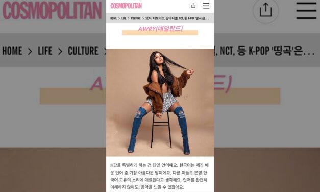Hier in Nederland maakt Awry muziekhits in Korea