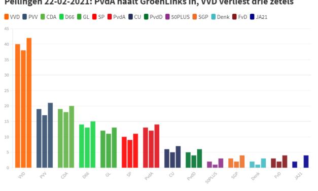 Peilingen #2: VVD ondanks zetel verlies nog steeds ruim aan de leiding