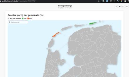 LIVE: Kaart met verkiezingsuitslagen per gemeente